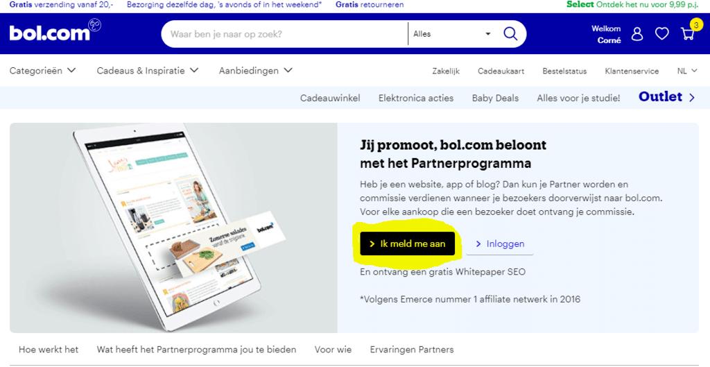 welke producten kan je promoten als affiliate? bol.com partner