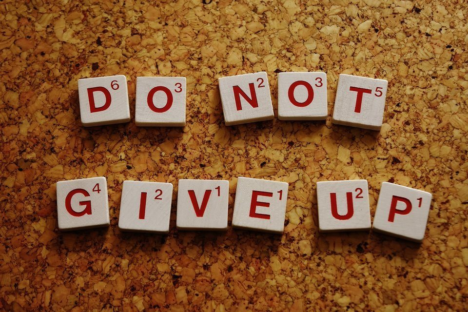 beginnen met ondernemen nooit opgeven