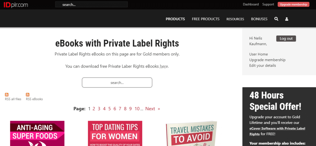 IDplr.com (priavte label rights website)