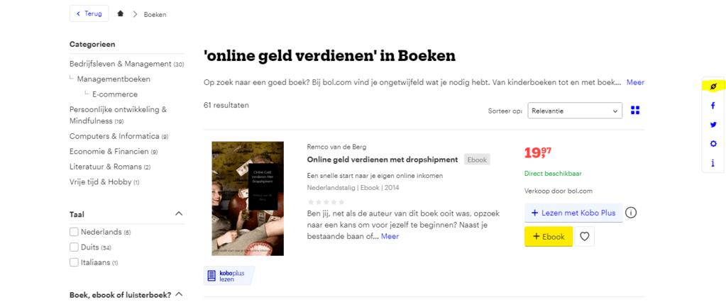 Bol.com affiliate programma