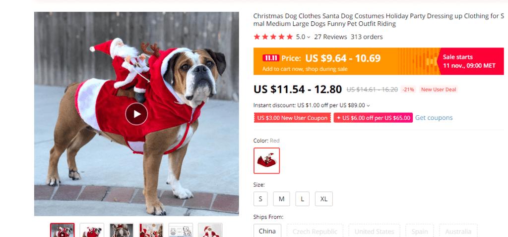 Honden Kerstman Outfit