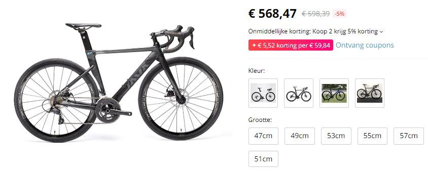 High Ticket Dropshipping racefiets