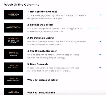 week 3 the goldmine