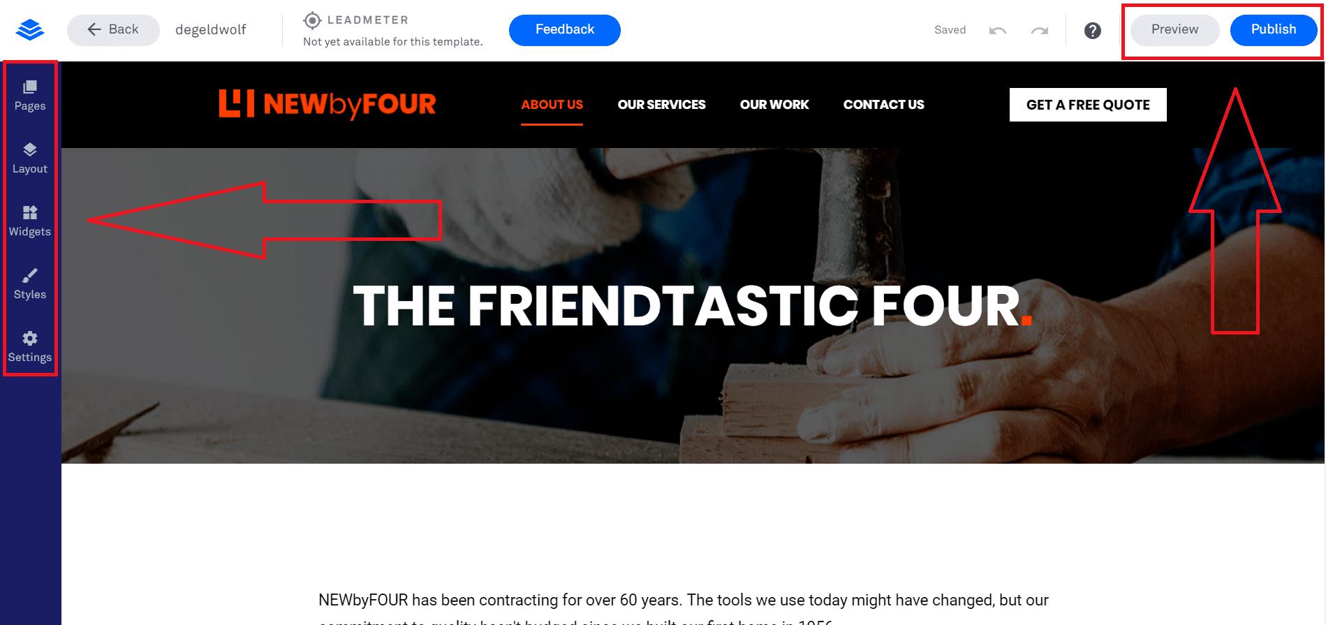 leadpages website maken 2