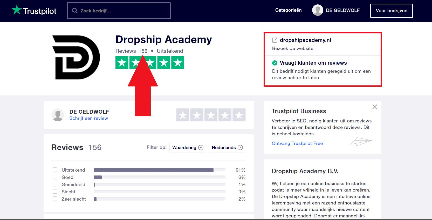 dropship academy trustpilot